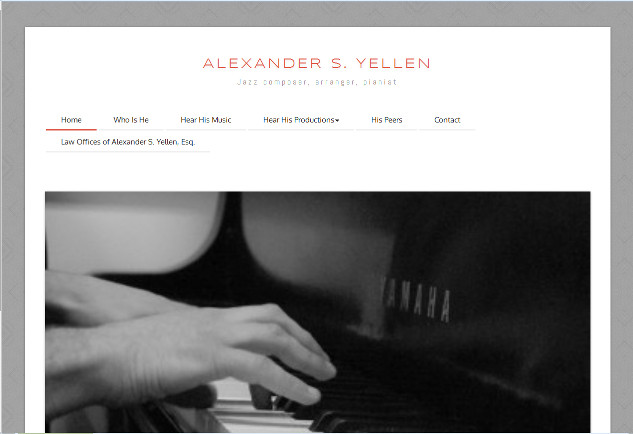 Alexander S. Yellen, Jazz composer, arranger, pianist